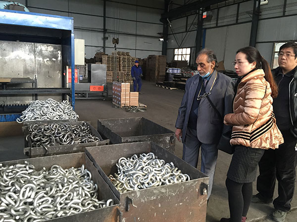clients from Pakistan visit our factory