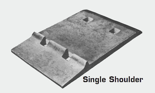 single shoulder tie plate